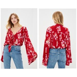 Free People Forties Feel Bell Sleeve Bodysuit